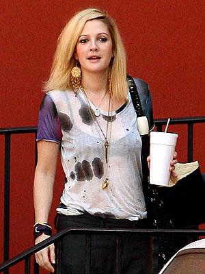 Drew Barrymore looking quite bohemian
