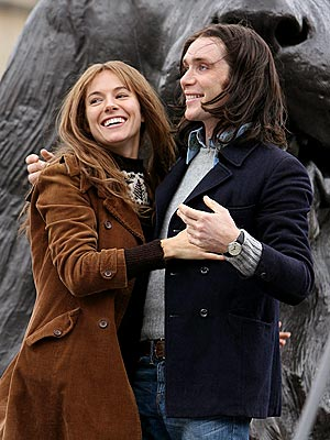 With Cillian Murphy on Hippie set, I like her better blonde...