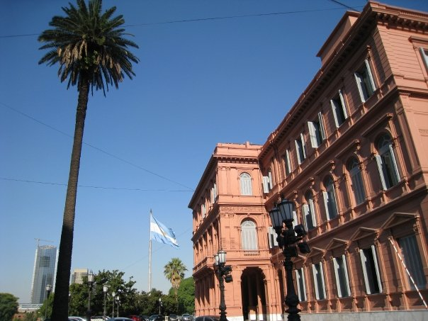 We call ours the White House and they call theirs la Casa Rosada!