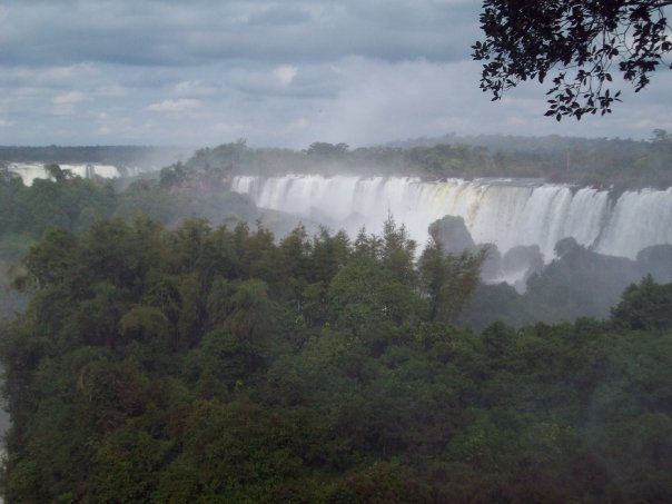 Iguazu-the second largest falls after Angel Falls and BEFORE Niagra.