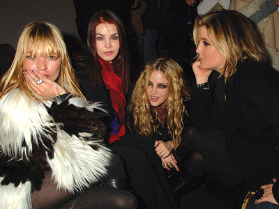 With Riley Keough and other Rock & Roll royality (Elvis offspring).
