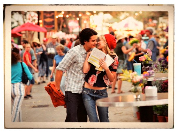 Orlando Bloom and Kirsten Dunst in Elizabethtown