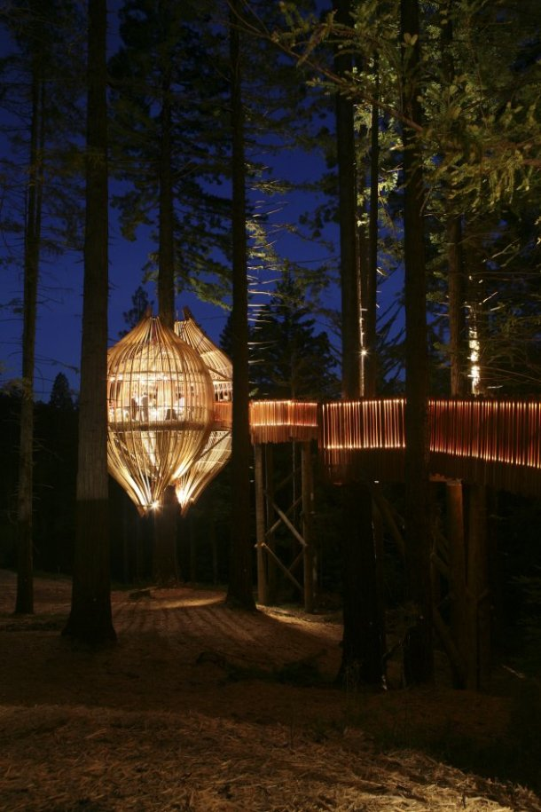 Yellow Treehouse Restaurant in Auckland, New Zealand.