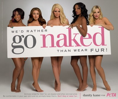 Danity Kane PETA I'd Rather Go Naked than Wear Fur campaign