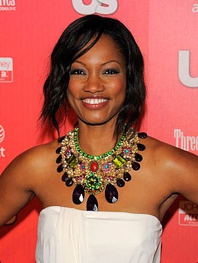 Garcelle Beauvais-Nilon bejewels her collarbone with a larger than life necklace.