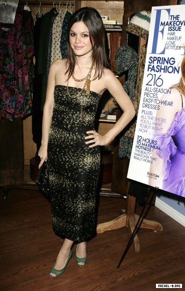 Rachel Bilson mixes metallic into the traditional little black dress