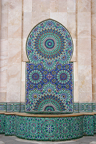 Mosaic Fountain in Casablanca, Morocco