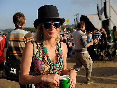 Sienna Miller at a summer festival