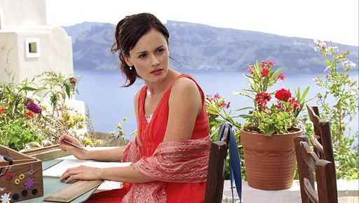Alexis Bledel on Greek vacation