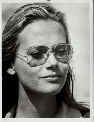 Peggy Lipton in aviators