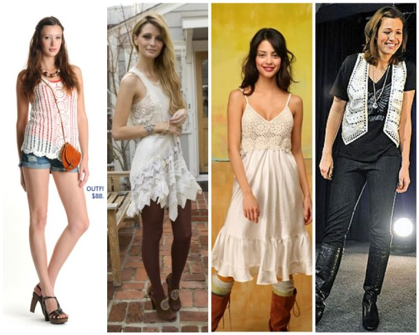 (From left) Forever 21, Mischa Barton, Free People, Mandy Moore