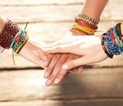 Bohemian layered bracelets