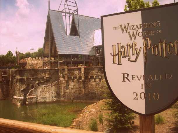 Get excited for Harry Potter World. I snapped this shot of the construction in Florida.