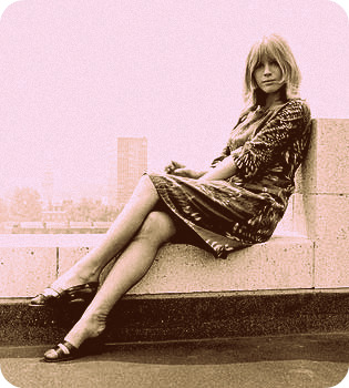 Marianne Faithfull, the bohemian.
