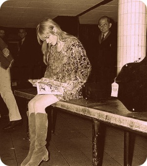 Marianne Faithfull, the fashion icon.