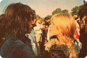 Mick Jagger and Marianne Faithfull, the couple.