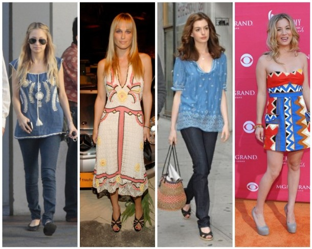 Nicole Richie, Molly Sims, Anne Hathaway and Kaley Cuoco