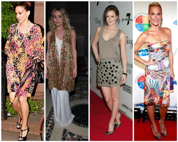 Sarah Jessica Parker, Ashley Olsen, Leighton Meester, and Molly Sims in Missoni
