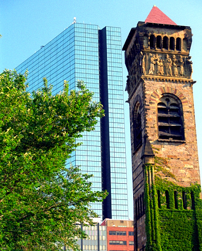 I love the contrasts of old and new in Boston
