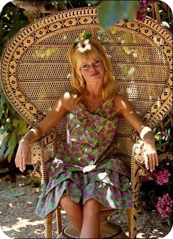 Brigitte Bardot in chair