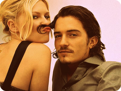 Kirsten Dunst and Orlando Bloom being cute