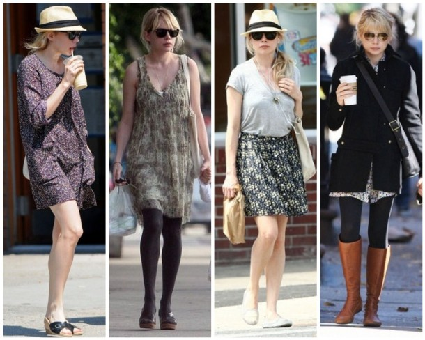 Michelle Williams casual style