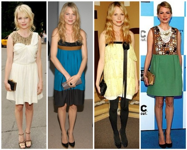 Michelle Williams red carpet style