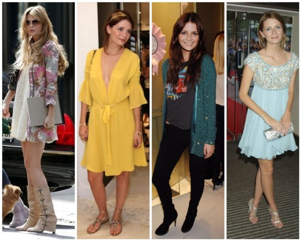 Mischa Barton in Jenni Kayne , yellow Versace, a rocker chick ensemble and Marchesa