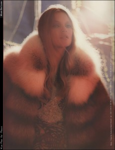 Kate Moss as Brigitte Bardot in Missoni ad