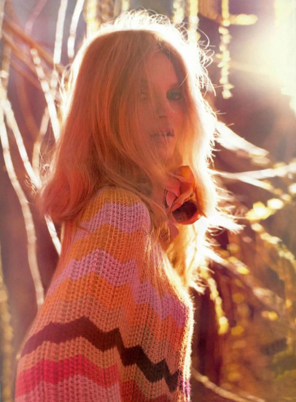 Kate Moss as Brigitte Bardot in Missoni ad