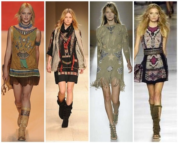 Navajo chic by Anna Sui, Isabel Marant, Matthew Williamson and Etro