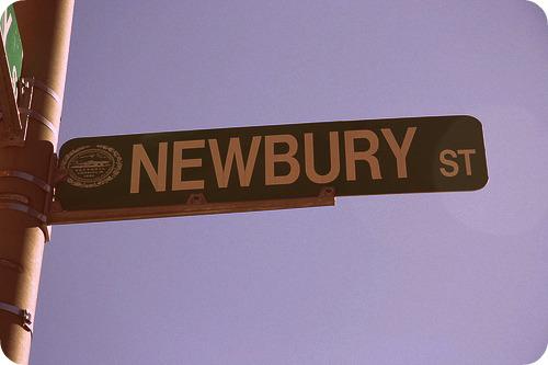 Newburt Street Sign Boston