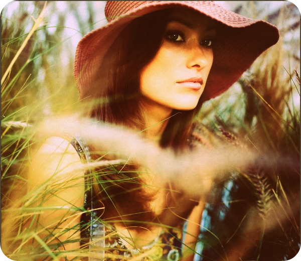 Olivia Wilde as a hippie in Nylon
