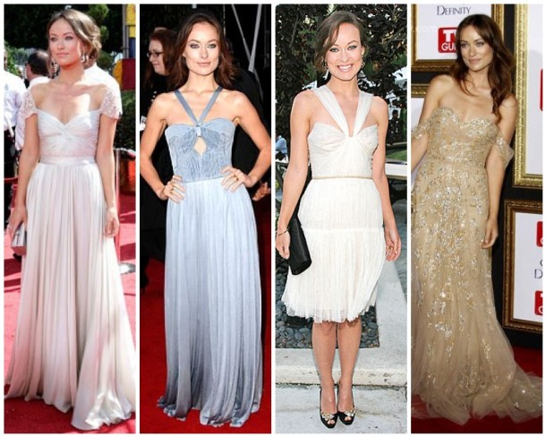 Olivia Wilde in gowns by Reem Acra, Farah Angsana, J Mendel and Zuhair Murad