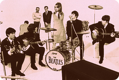 Pattie Boyd with The Beatles