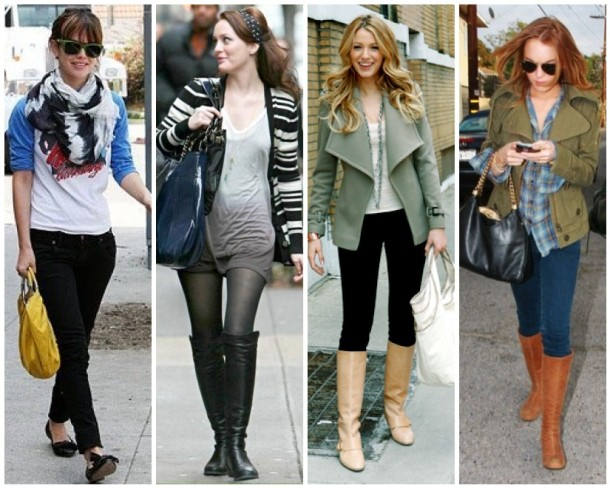 Rachel Bilson, Leighton Meester, Blake Lively and Lindsay Lohan don't bother matching their shoes to their purses