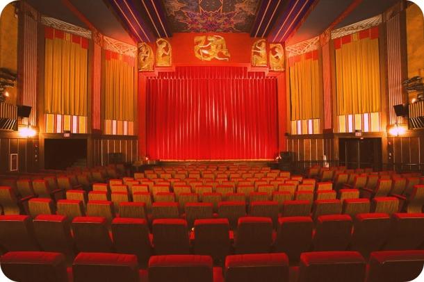 Interior of the Coolidge Corner Theatre