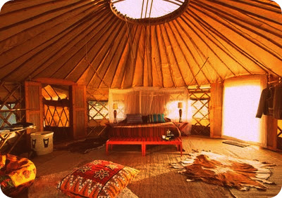 Tribal bedroom with cool ceiling