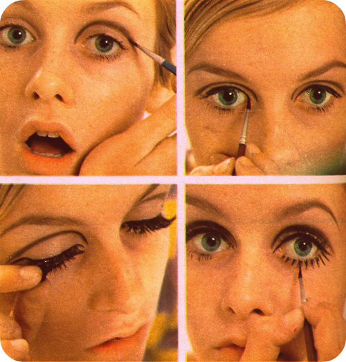 How to Twiggy mod eye makeup