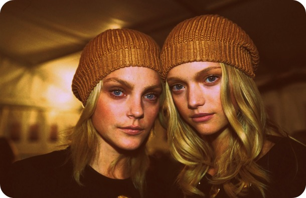 Jessica Stam and Gemma Ward