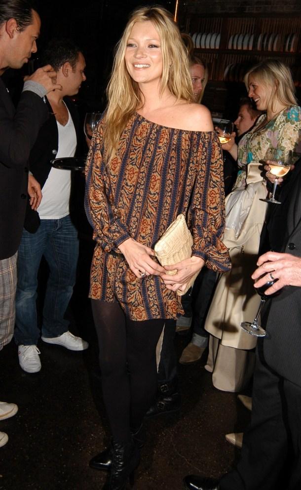 Kate Moss opaque tights mini dress