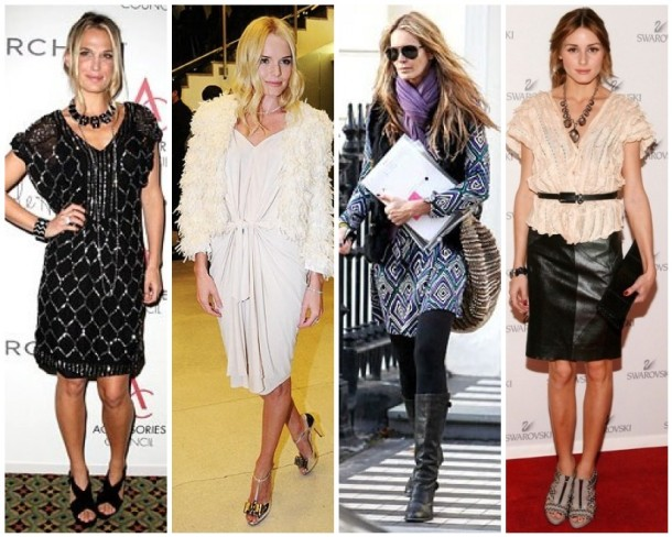Molly Sims, Kate Bosworth, Elle Macpherson, Olivia Palermo outfits