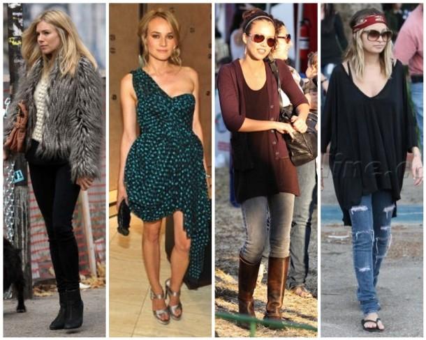 Sienna Miller, Diane Kruger, Jessica Alba, Nicole Richie outfits